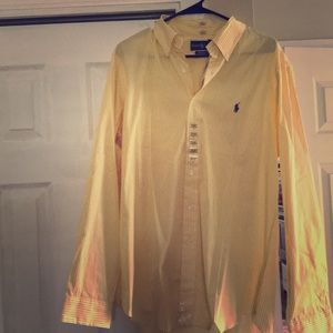 Polo dress shirt - new with tags - yellow